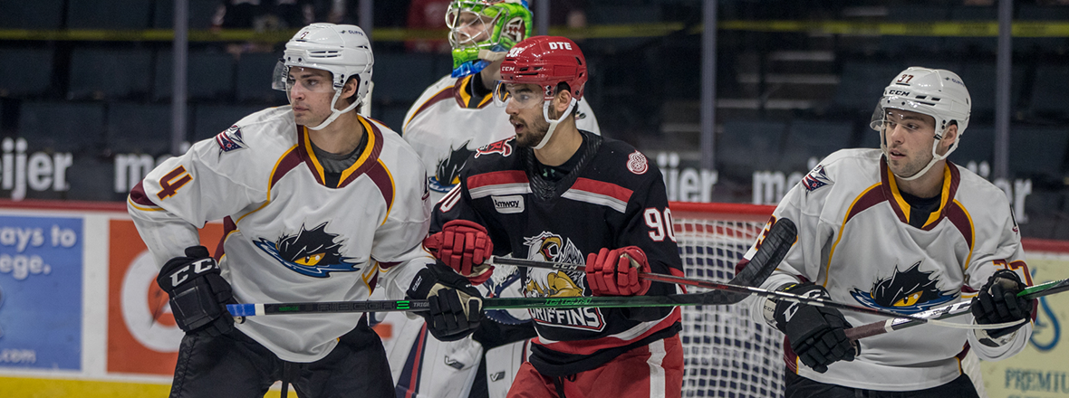 Monsters late fight not enough in 4-1 loss to Griffins