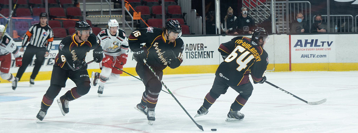 Monsters fall short in 5-2 loss to Griffins