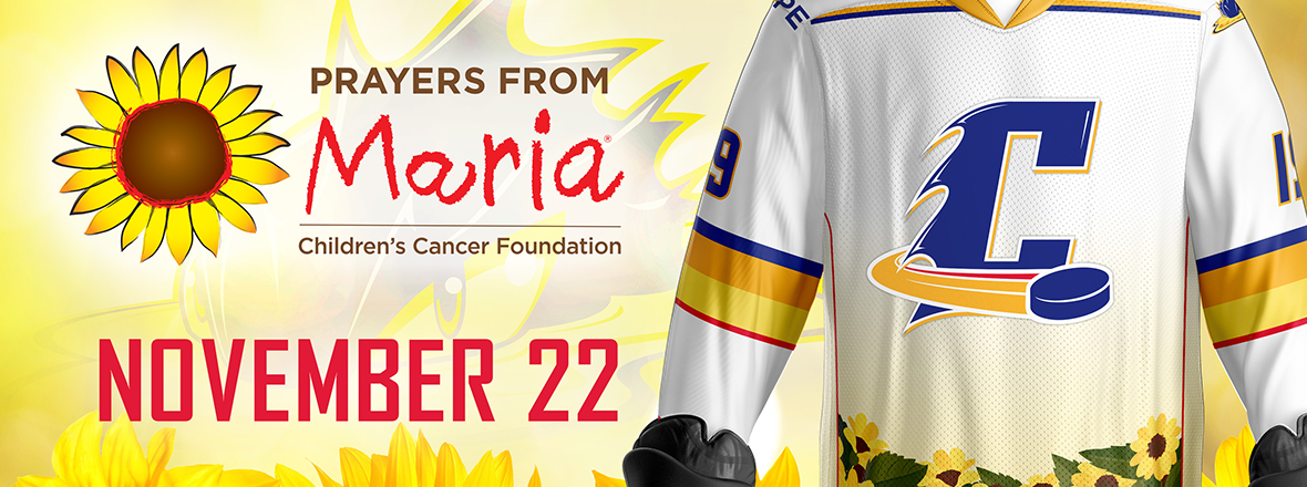 Cleveland Monsters and 'Prayers From Maria' Team up For Hockey Fights Cancer Night