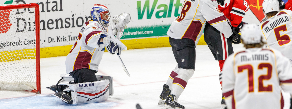 Monsters stumble late in 3-2 loss to IceHogs