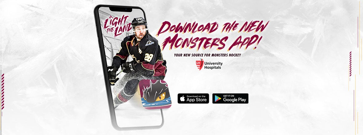 Monsters Unveil New Mobile App Pres. by University Hospitals