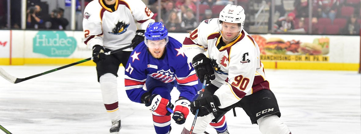 Monsters Back-and-Forth Ends in 3-2 Loss to Amerks